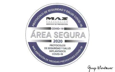 Grup Montaner consigue la acreditación como Área Segura Covid-19
